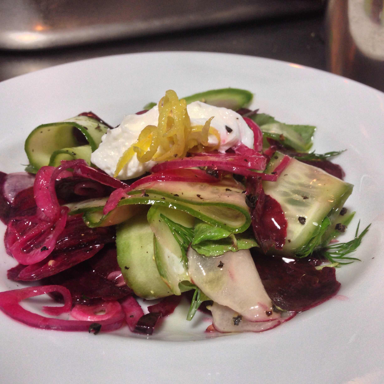 çiğden pancar-turp-hıyar salatası